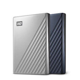 Western Digital My Passport Ultra 2018 4TB WD MY PASSPORT ULTRA BLUE - WDBFTM0040BBL-WESN